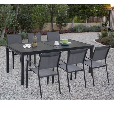 Balducci 7 Piece Rectangular Dining Set