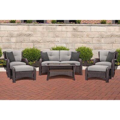 Barrand 6 Piece Lounge Seating Group with Cushion Fabric: Gray