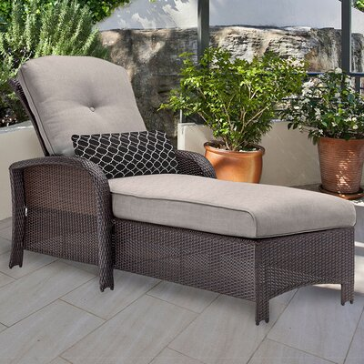 Corolla Chaise Lounge with Cushion Fabric: Gray