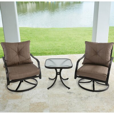 Keensburg Swivel 7 Piece Bistro Set