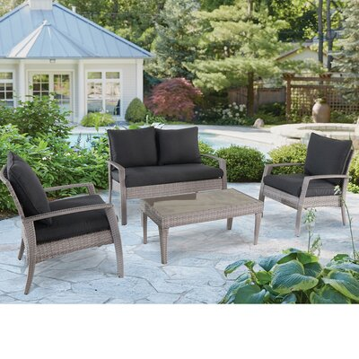 Rossana 11 Piece Deep Seating Group with Cushions