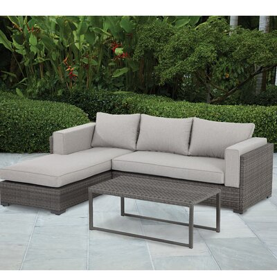 Nichols Outdoor 7 Piece Sectional Seating Group with Cushion