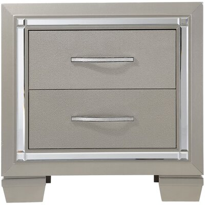 Domenick 2 Drawer Nightstand