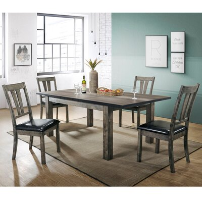 Sanda 5 Piece Wood Dining Set