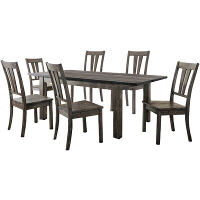 Sanda 7 Piece Wood Dining Set