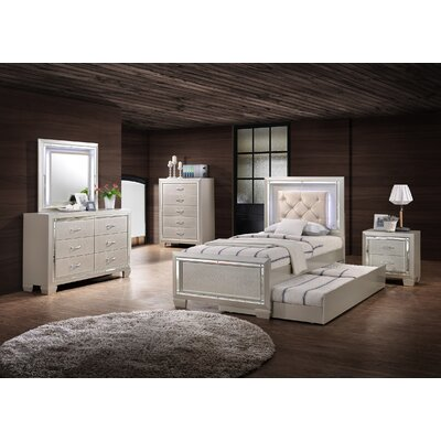 Domenick Platform 5 Piece Wood Bedroom Set Size: Twin