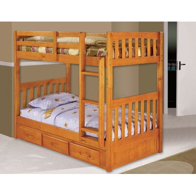 Elisa Twin Over Twin Slat Bunk Bed