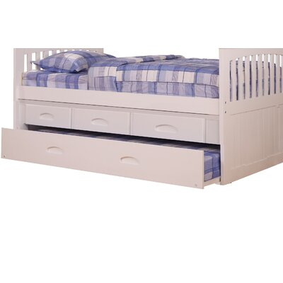 Edmond 3 Drawer Underbed Storage Unit for Youth Bunk Beds