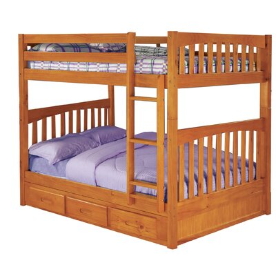 Efrain Full-Over-Full Slat Bunk Bed with Storage