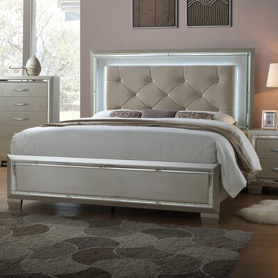 Domenick Full Upholstered Platform Bed Frame with Slide-Out Trundle