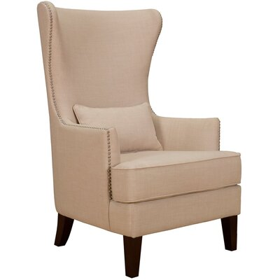 Kina High Back Wingback Chair Finish: Natural