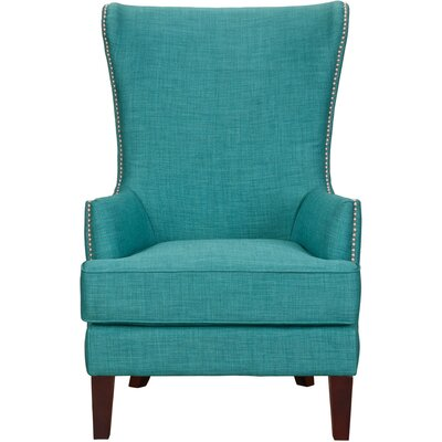 Kina High Back Wingback Chair Finish: Teal