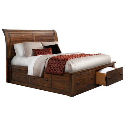 Guyer Storage Sleigh 5 Piece Bedroom Set Size: King