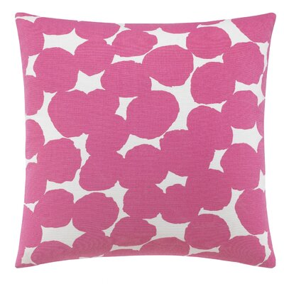 Random Dot 100% Cotton Throw Pillow Color: Pink