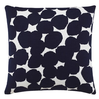 Random Dot 100% Cotton Throw Pillow Color: Navy Blue