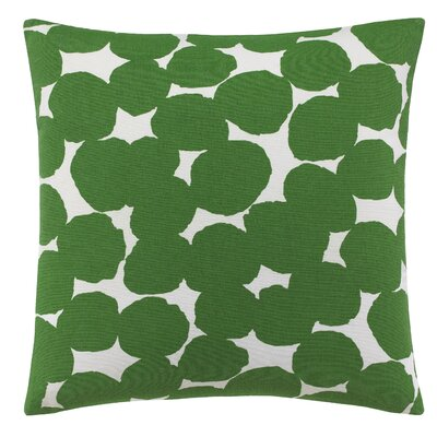 Random Dot 100% Cotton Throw Pillow Color: Green