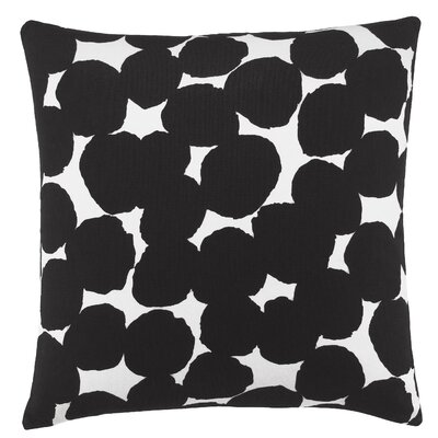 Random Dot 100% Cotton Throw Pillow Color: Black