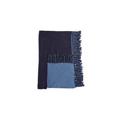 Colorblock Throw Color: Navy Blue