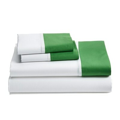 Grace Sheet Set Size: Full, Color: Green