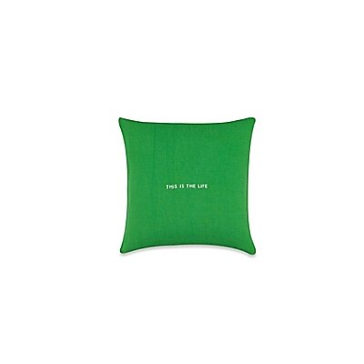 Words of Wisdom Throw Pillow Color: Green