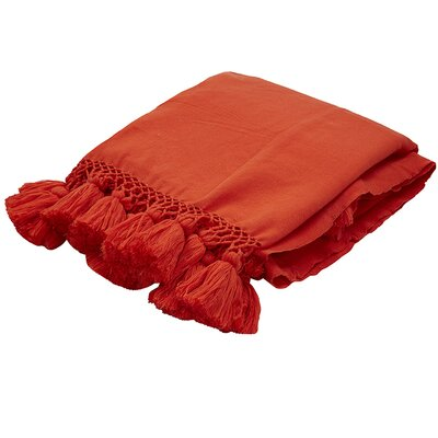 Seaport Throw Color: Red