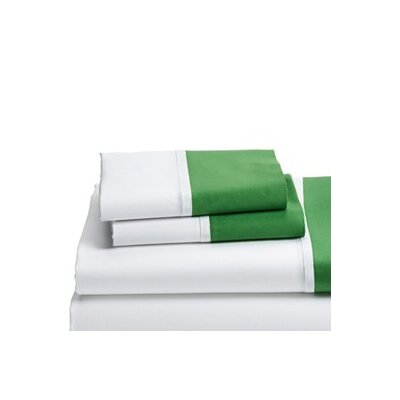 Grace 100% Cotton Pillowcase Size: 20 H x 40 W, Color: Green