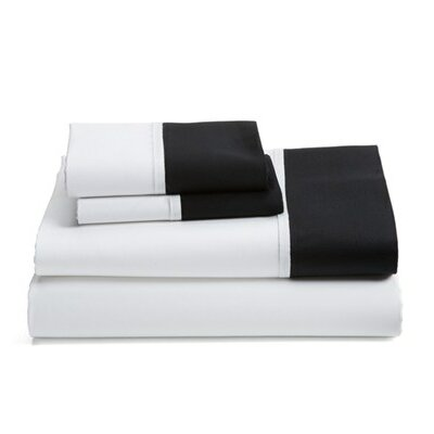 Grace 100% Cotton Pillowcase Size: 20 H x 40 W, Color: Black