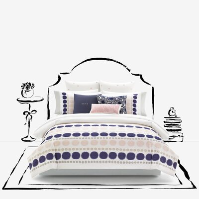Ikat Dot Mini Duvet Cover Set Size: Full/Queen