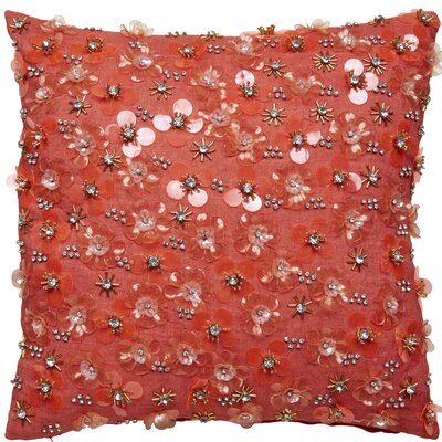 Beaded Square Throw Pillow