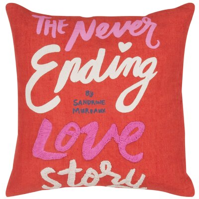 Never Ending Love Story Throw Pillow