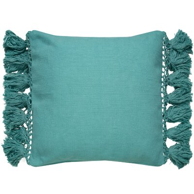Tassel Throw Pillow Color: Blue