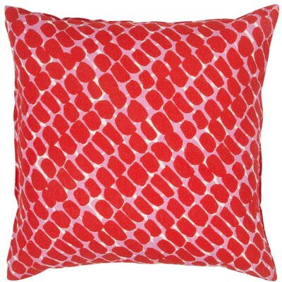 Dobbins Throw Pillow Color: Red/Pink