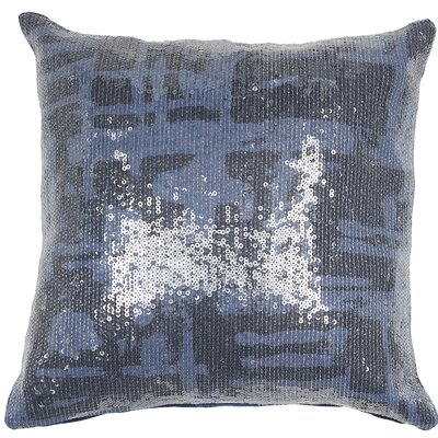 Painterly Plaid Throw Pillow Color: Blue/Black