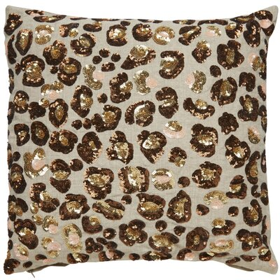 Sequin Leopard Throw Pillow