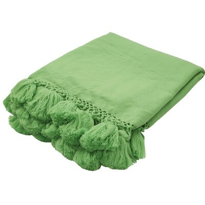 Seaport Throw Color: Green