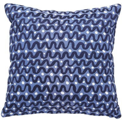 Waves Throw Pillow Color: Navy Blue