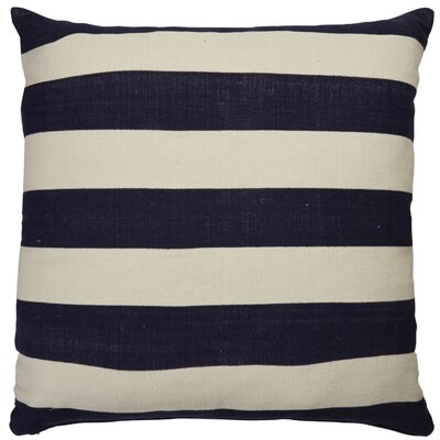 Double Throw Pillow Color: Blue/Ivory, Size: 20 x 20