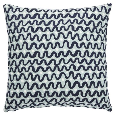Waves Throw Pillow Color: Black/White