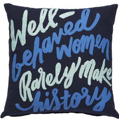 Make History Throw Pillow