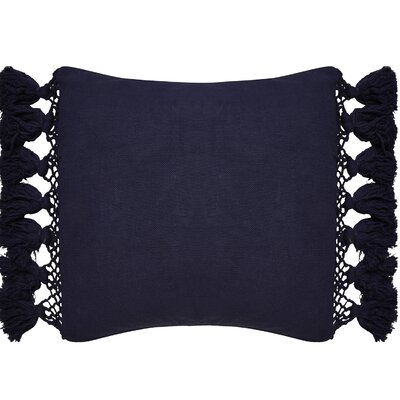 Tassel Throw Pillow Color: Navy