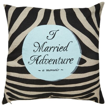 I Married Adventure Throw Pillow