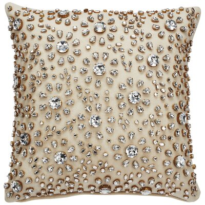 Floral Burst Throw Pillow Color: Beige