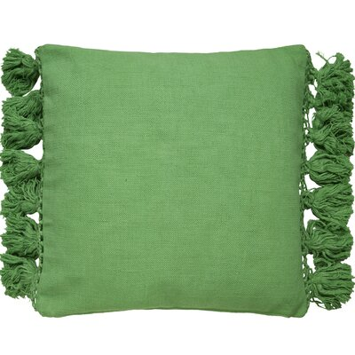 Tassel Throw Pillow Color: Green