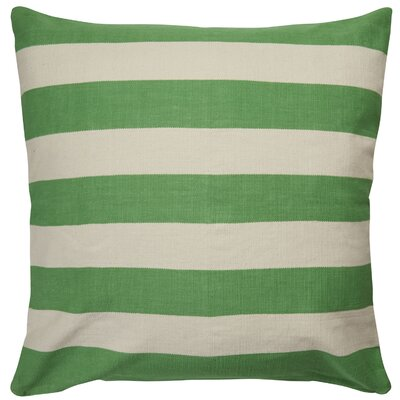 Double Throw Pillow Color: Green/Ivory, Size: 20 x 20