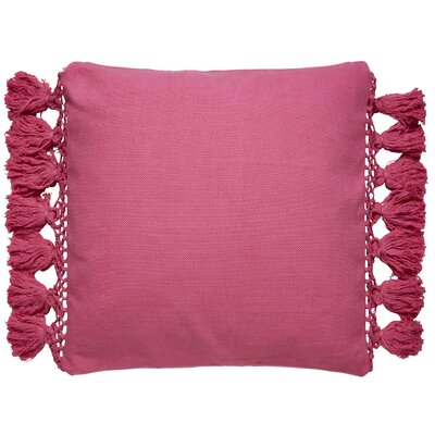 Tassel Throw Pillow Color: Pink