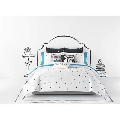 Deco Dot 3 Piece Comforter Set Size: Full / Queen, Color: White