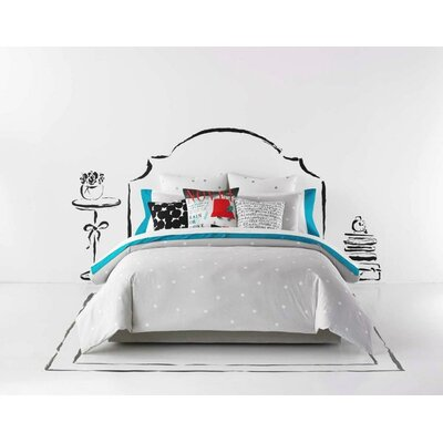 Deco Dot Platinum Duvet Cover Set Size: King