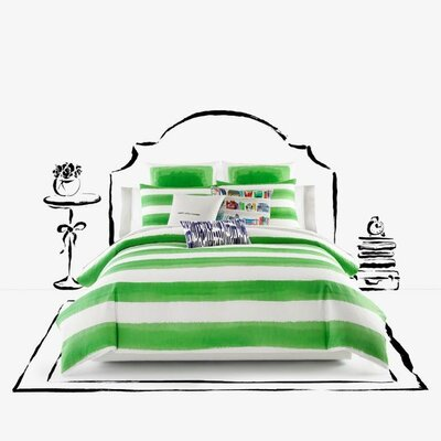 Rugby Stripe Duvet Cover Set Size: Twin