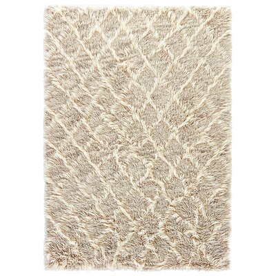 Heights Diamond Shag Hand-Woven Taupe/Cream Area Rug Rug Size: Rectangle 8 x 10