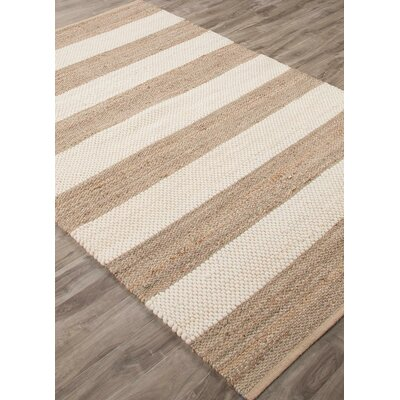 Nolita Seaside Stripe Hand-Woven Nautral/Off-White Area Rug Rug Size: Rectangle 9 x 12